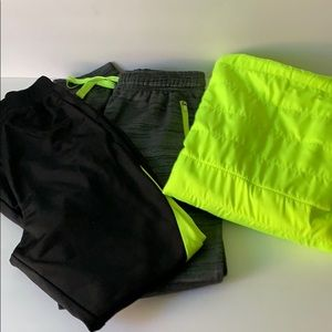 Athleisure Set Neon Hooded Pullover 2 Joggers 20PE